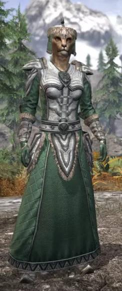 Ancestral Orc Homespun - Khajiit Female Robe Front