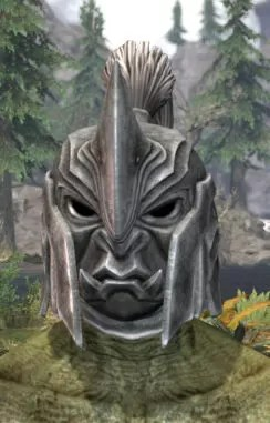 Ancestral Orc Iron Helm - Argonian Male Front