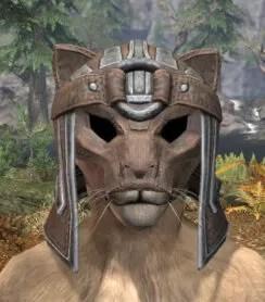 Ancestral Orc Rawhide Helmet - Khajiit Female Front