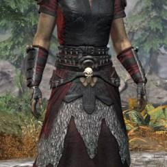 Sea Giant Light - Khajiit Female Robe Front