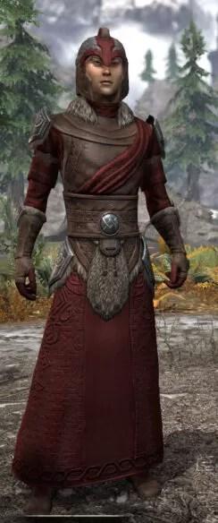 Swordthane Light - Male Robe Front