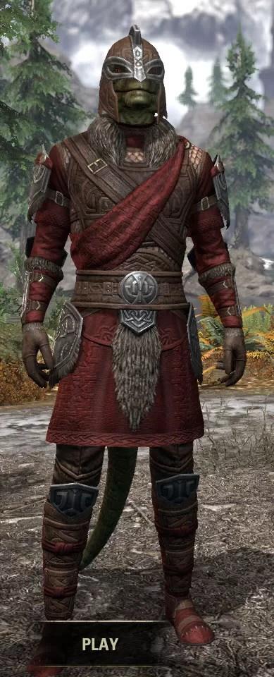 Swordthane Medium - Argonian Male Front
