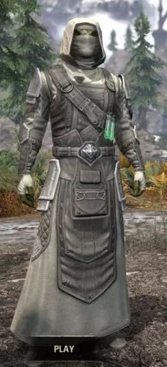 Hazardous Alchemy Honespun - Argonian Male Robe Front