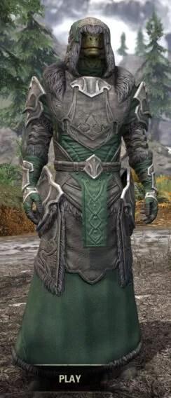 Thorn Legion Honespun - Argonian Male Robe Front