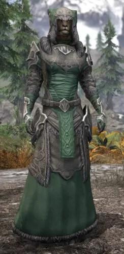 Thorn Legion Honespun - Khajiit Female Robe Front