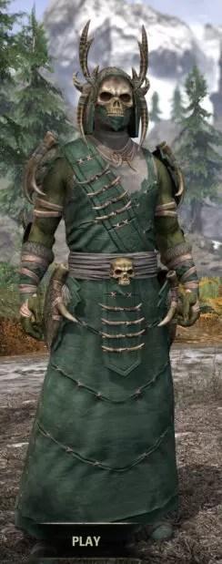 Ancestral Reach Homespun - Argonian Male Robe Front