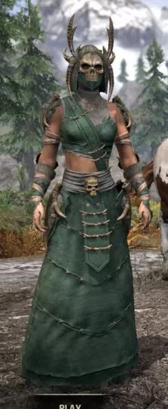 Ancestral Reach Homespun - Female Robe Front