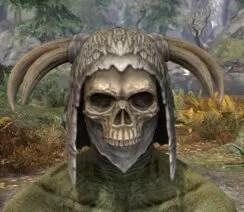 Ancestral Reach Rawhide Helmet - Argonian Male Front