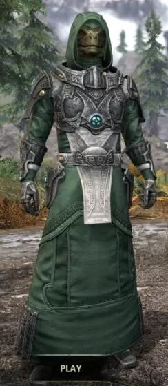 Arkthzand Armory Homespun - Argonian Male Robe Front