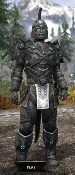 Arkthzand Armory Iron - Argonian Male Front