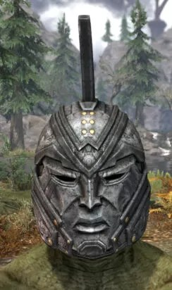 Arkthzand Armory Iron Helm - Argonian Male Front
