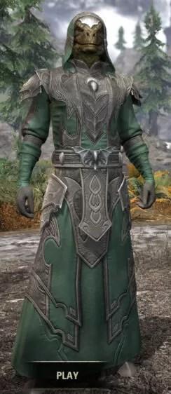 Greymoor Homespun - Argonian Male Robe Front