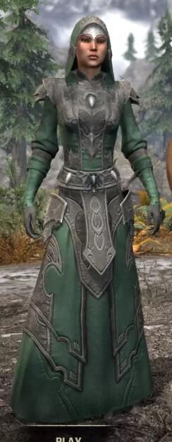 Greymoor Homespun - Female Robe Front