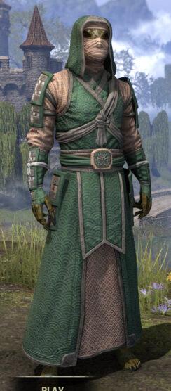 Ancestral Akaviri - Argonian Male Robe Front