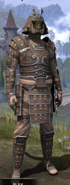 Ancestral Akaviri Rawhide - Argonian Male Front