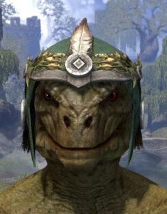 Black Fin Legion Homespun Hat - Argonian Male Front