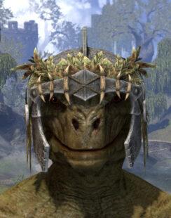 Black Fin Legion Iron Helm - Argonian Male Front