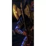 Imperial Galatite Battle Axe