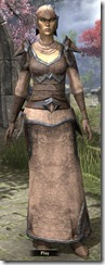 Dunmer Homespun Robe - Female Front