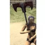 Thieves Guild Rubedite Battle Axe