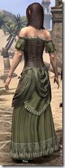 Off-the-Shoulder Evening Dress - Female Back