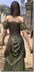 Off-the-Shoulder Evening Dress - Female Close Back
