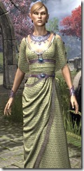 Cyrod Patrician Formal Gown Dyed Close Front