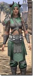 Minotaur Homespun Robe - Female Close Front