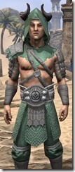 Minotaur Homespun Robe - Male Close Front