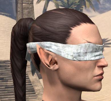Blindfolded dark hoe use