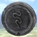 Atmoran Snake Totem Medallion