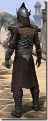 Ebony Ancestor Silk Robe - Male Back
