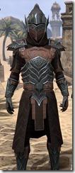 Ebony Ancestor Silk Robe - Male Close Front