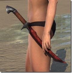 Ebony Rubedite Dagger