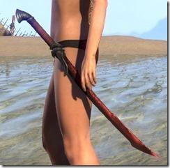 Ebony Rubedite Sword