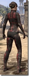 Red Skeleton Body Paint - Female Back