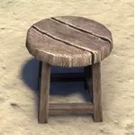 Rough Stool, Round