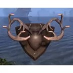 Plaque, Bordered Deer Antlers