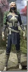 Naryu's Morag Tong Costume Dyed Front