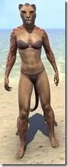 Dremora Kyn Body Tattoo - Khajiit Front