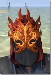 Flamebrow Fire Veil - Female Front