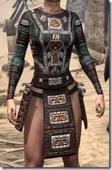 Argonian Dwarven Cuirass - Female Front