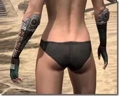 Argonian Dwarven Gauntlets - Female Rear