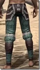 Argonian Dwarven Greaves - Male Rear