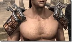 Argonian Dwarven Pauldron - Male Front