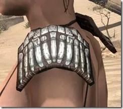 Argonian Iron Pauldron - Female Side