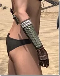 Argonian Steel Gauntlets - Female Right