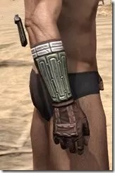 Argonian Steel Gauntlets - Male Right