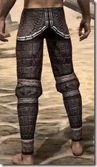 Argonian Steel Greaves - Male Rear