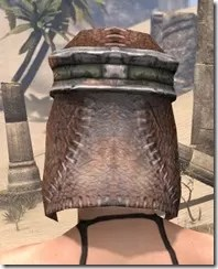 Argonian Steel Helm - Female Rear